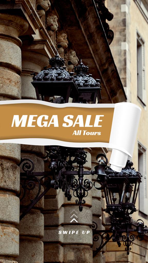 Tours Offer with old city building — Crea un design