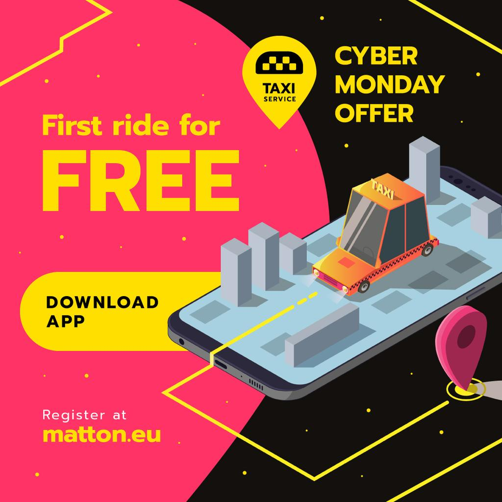 Cyber Monday Offer Taxi Application — Create a Design