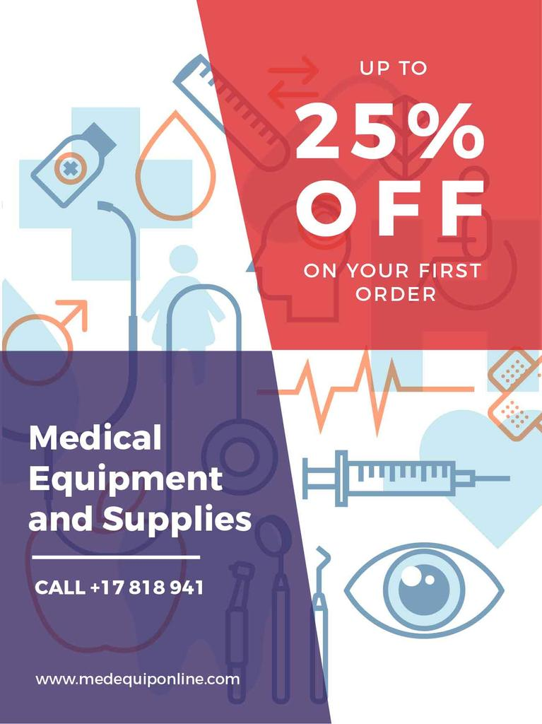 Medical equipment and supplies advertisement — Create a Design