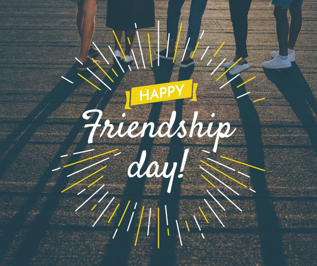 Friendship Day greeting Young People Together — ein Design erstellen