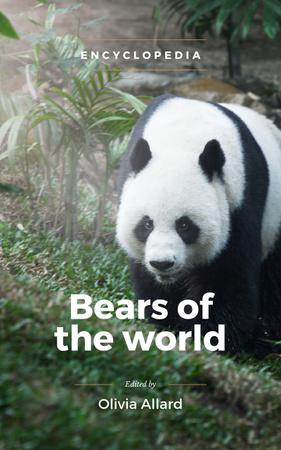 Cute Wild Panda in Habitat Book Coverデザインテンプレート