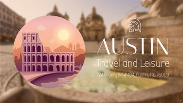 Tour Invitation with Rome Famous Travelling Spots | Full Hd Video Template