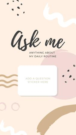 Template di design Daily Routine question form in pink Instagram Story