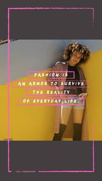 Fashion Quote Stylish Young Woman | Vertical Video Template