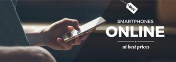 Smartphones Offer Man Scrolling on Phone | Tumblr Banner Template