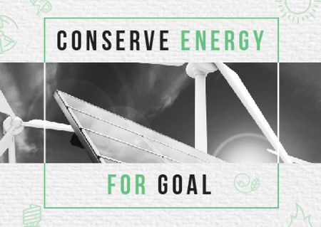 Concept of Conserve energy for goal Card Modelo de Design
