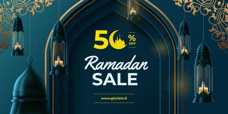 Ontwerpsjabloon van Image van Ramadan kareem lanterns