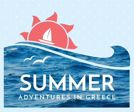 Template di design Greece Summer Tour Offer Facebook