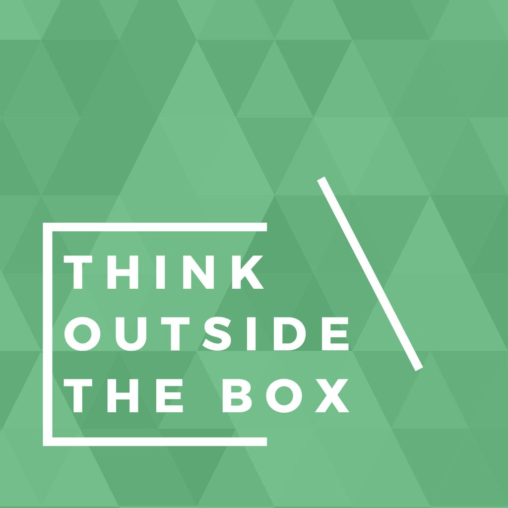 Think outside the box citation —デザインを作成する