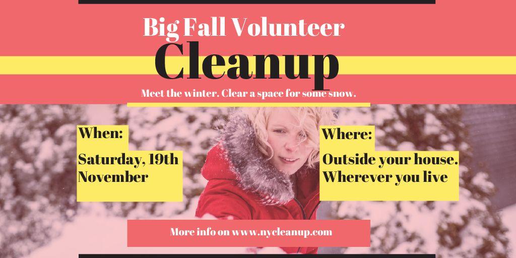 Winter Volunteer clean up — Modelo de projeto