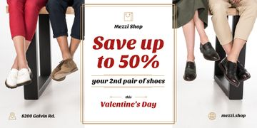 Valentine's Day Sale People at Shoes Shop