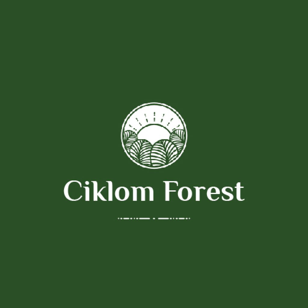 Trees in Forest Green Icon – Stwórz projekt