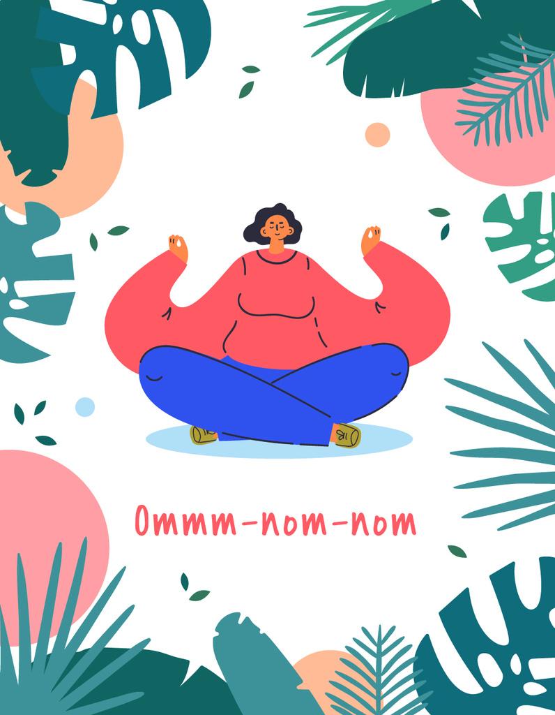 Woman meditating with Funny Phrase — Crear un diseño