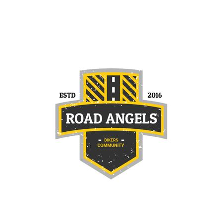 Template di design Bikers Community with Road Symbol Logo