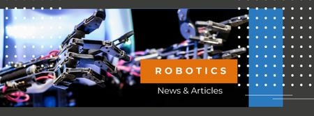 Plantilla de diseño de Modern robotics prosthetic technology Facebook cover