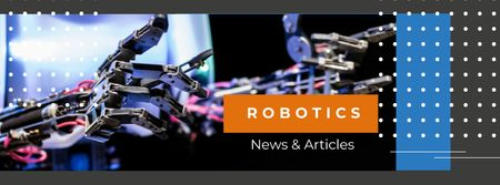 Modern robotics prosthetic technology Facebook cover Design Template