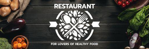 Healthy Food Menu In Vegetables Frame EmailHeaders