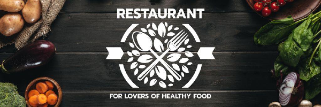 Healthy Food Menu in Vegetables Frame Email header Šablona návrhu