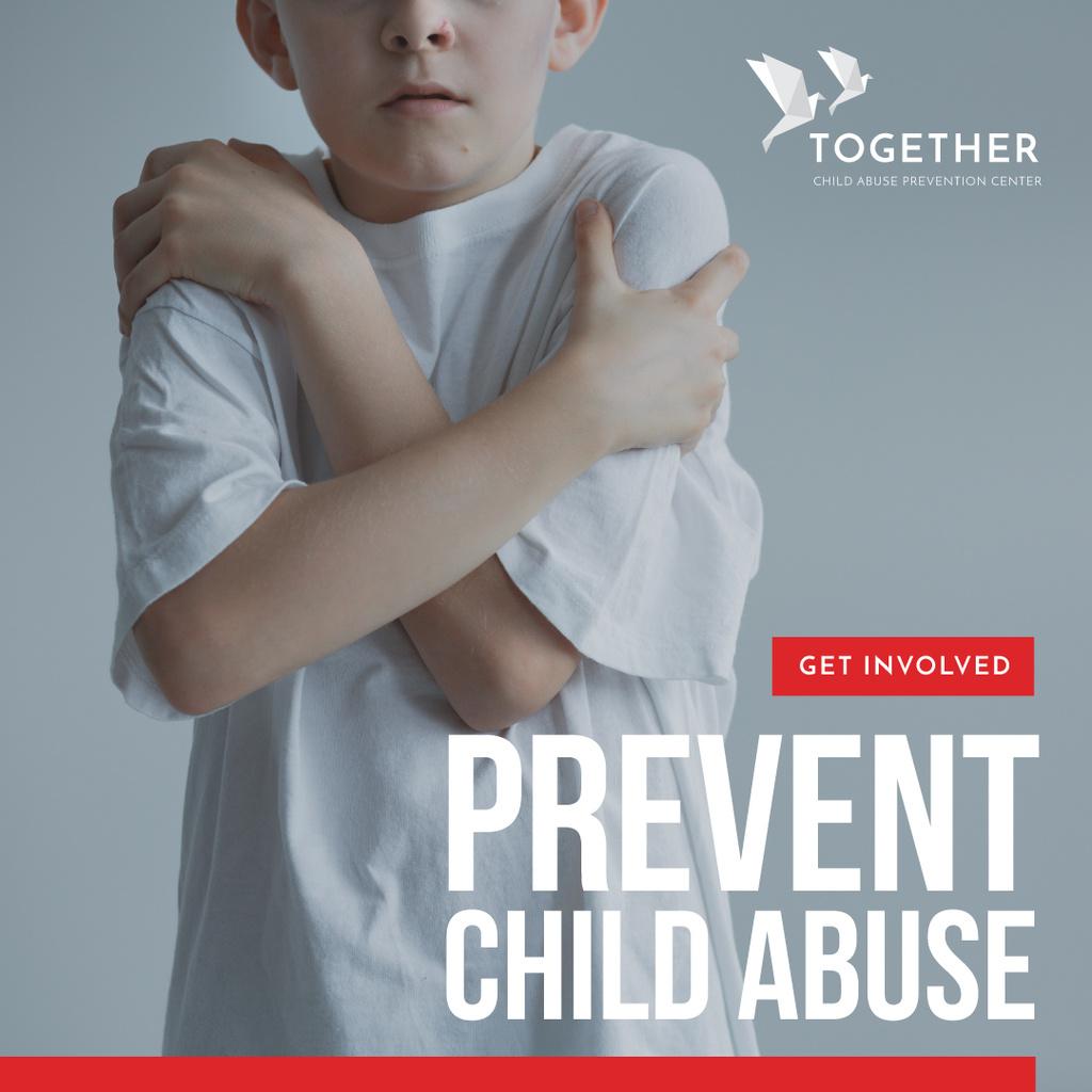 Child Abuse Awareness with scared kid — Crear un diseño