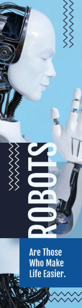 Android Robot Model in Blue — Crea un design