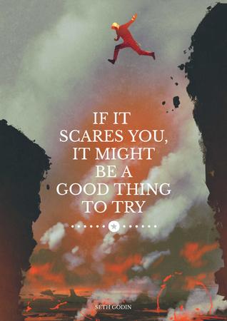 Plantilla de diseño de Extreme motivation Quote Poster