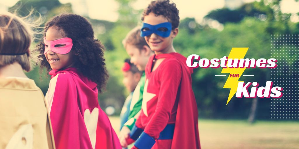 Kids in superhero costumes — Create a Design