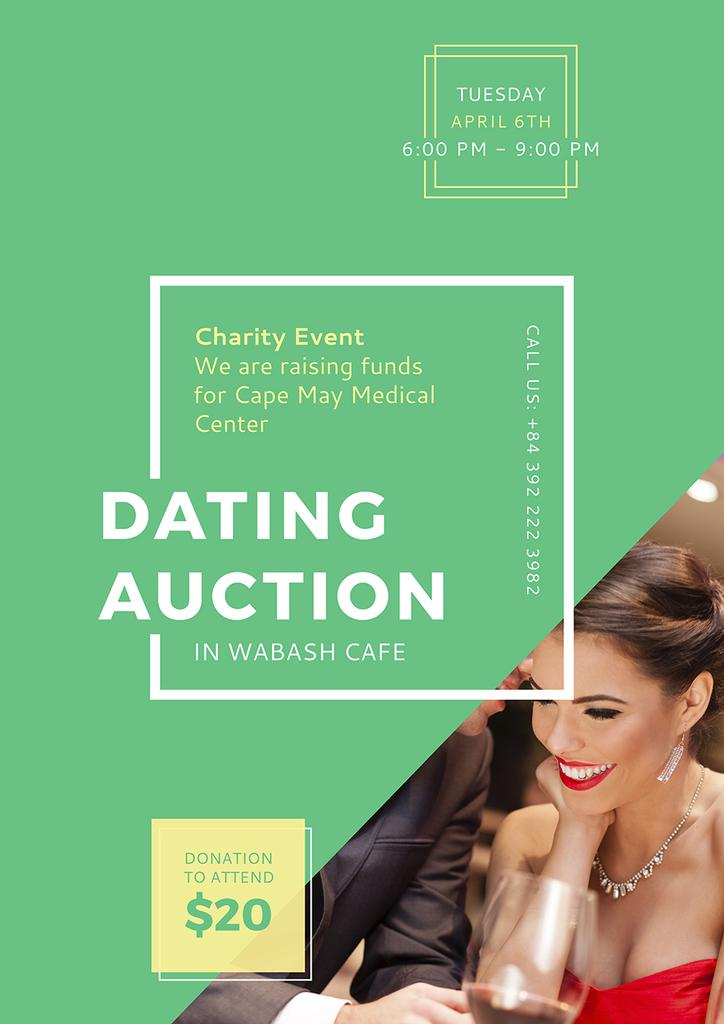 Dating Auction Annoucement — Створити дизайн