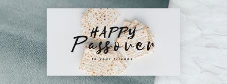 Modèle de visuel Happy Passover Unleavened Bread - Facebook Video cover