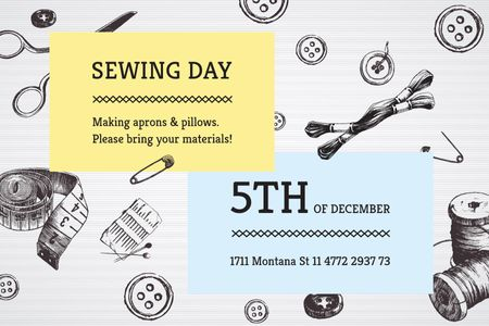 Modèle de visuel Sewing day event - Gift Certificate