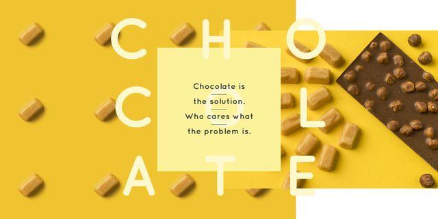 Plantilla de diseño de Sweets and chocolate pieces Image