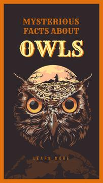 Wild owl bird illustration