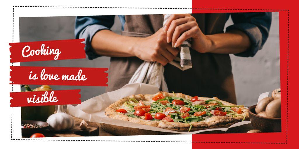 Chef cooking Italian pizza — Create a Design