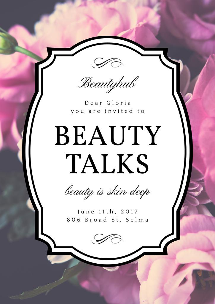 Beauty talks invitation — Crear un diseño