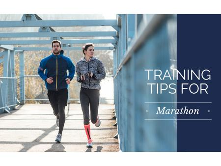 Ontwerpsjabloon van Presentation van Training tips for marathon