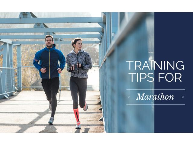 Training tips for marathon Presentation – шаблон для дизайну