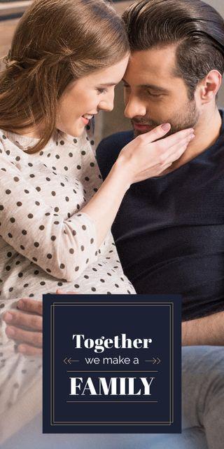 Husband with pregnant wife Graphic – шаблон для дизайну