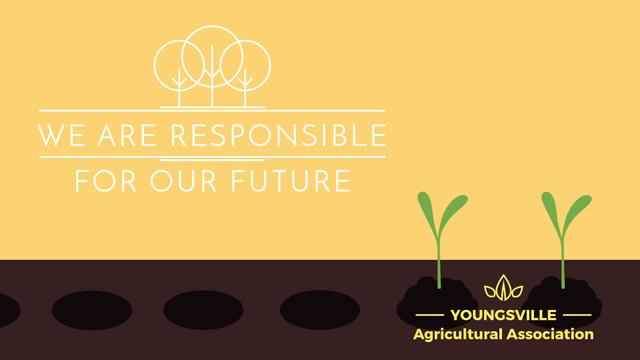 Agricultural Business Farmer Hands Planting Seedlings Full HD video Modelo de Design