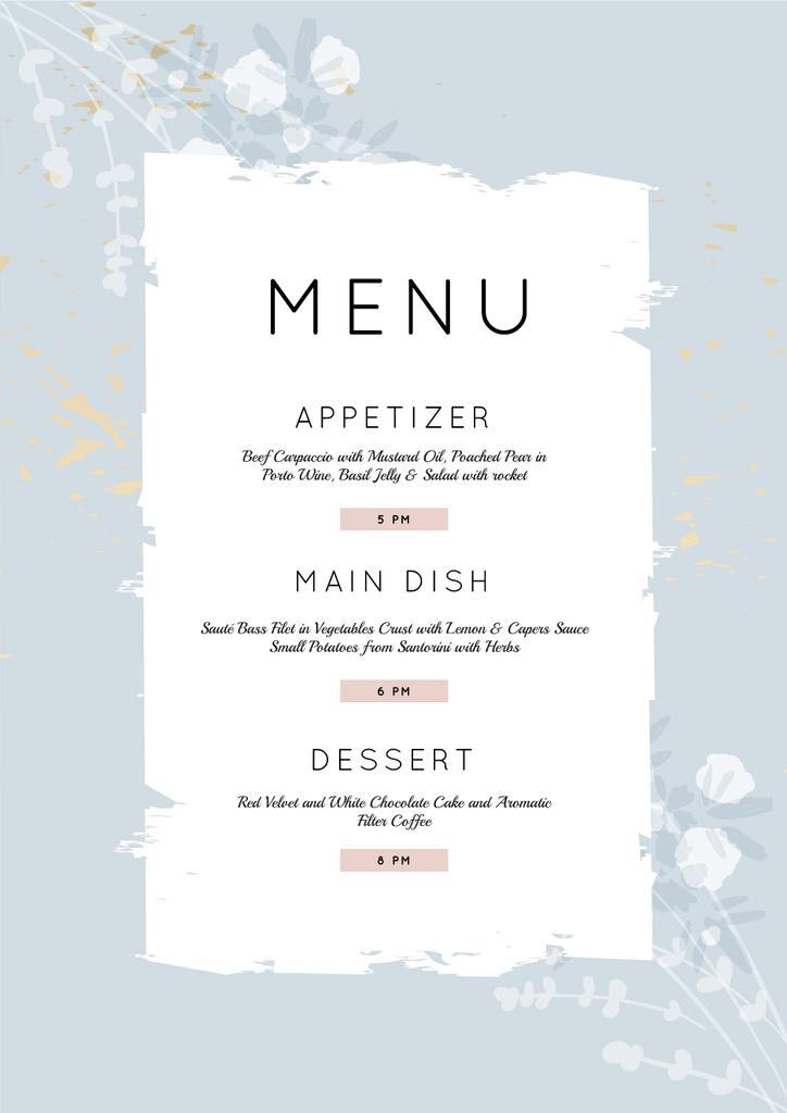 Restaurant Course in blue — Créer un visuel