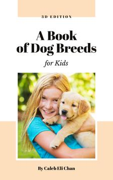 Dog Breeds Guide Girl Playing with Puppy | eBook Template