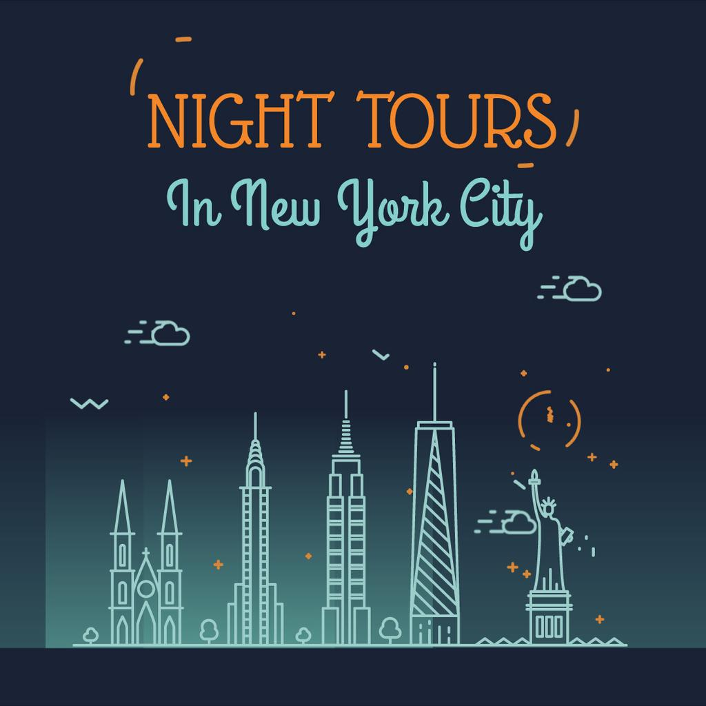 Night futuristic city lights — Crear un diseño