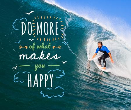 Template di design Man riding surfboard Facebook