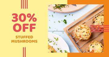 Stuffed Mushroom dish offer