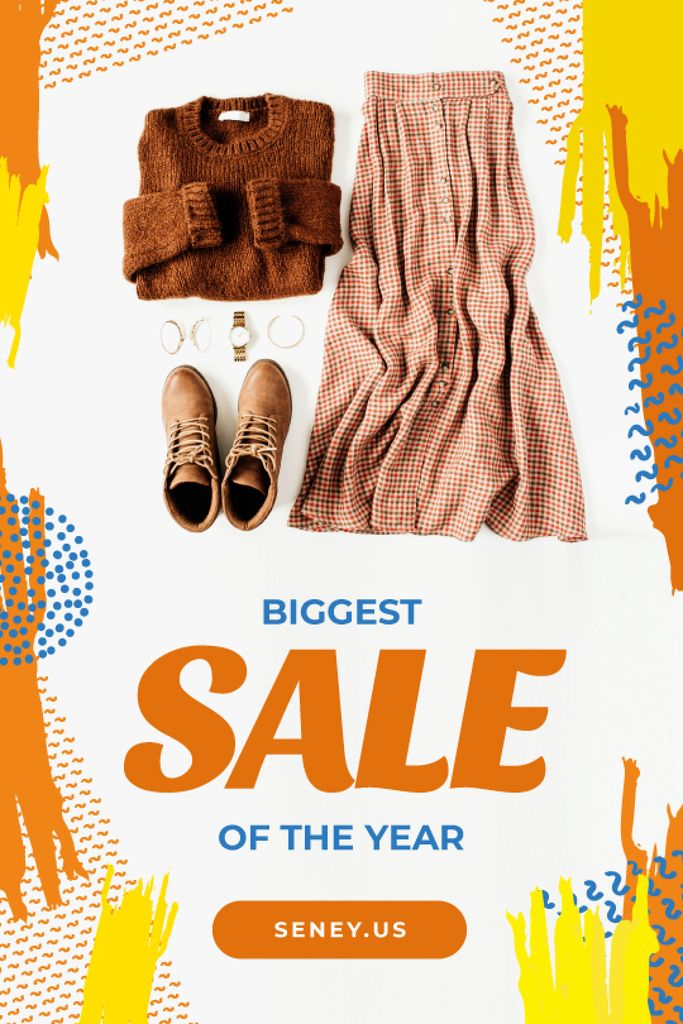 Clothes Sale Female Outfit in Brown Color | Tumblr Graphics Template — Modelo de projeto
