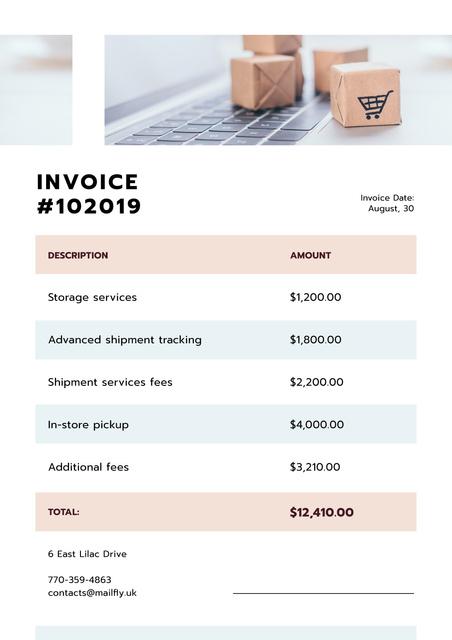 Shipment company services Cost Invoice – шаблон для дизайна