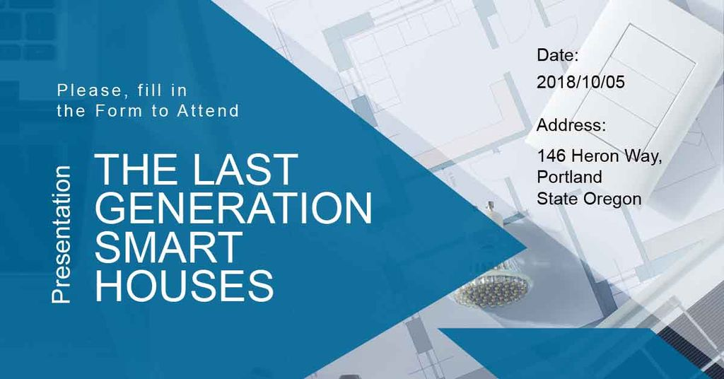 Invitation to smart houses presentation — Crea un design