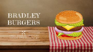 Fast Food Menu Putting Together Cheeseburger Layers