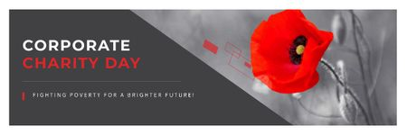 Plantilla de diseño de Corporate Charity Day Email header