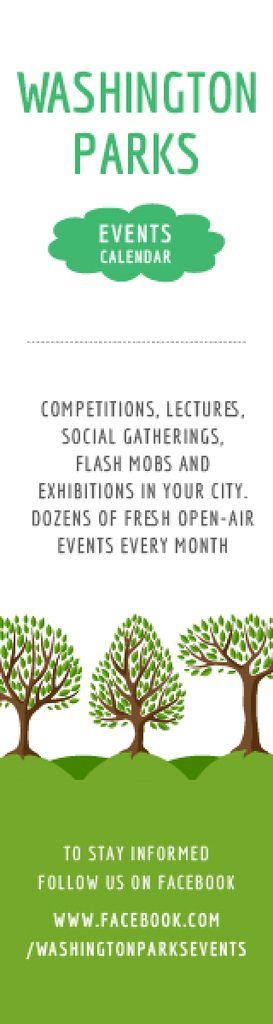 Park Event Announcement Green Trees Skyscraper – шаблон для дизайна