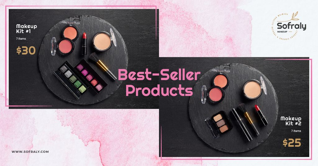 Cosmetics Ad Makeup Products Set — Create a Design