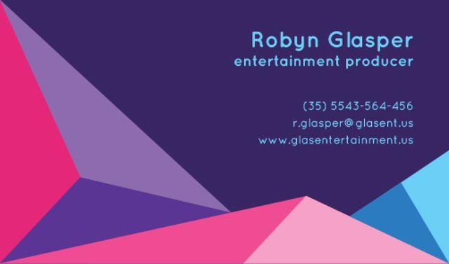 Entertainment Producer Services Offer Business card Tasarım Şablonu